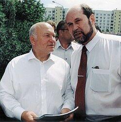 Юрий Лужков и издатель нашего журнала Юрий Кузьмин