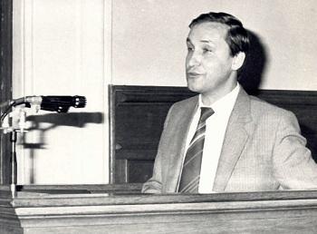 Одно из первых выступлений на совещании в Госбанке СССР
