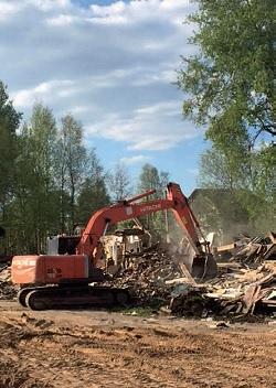 Разборка дома и очистка территории