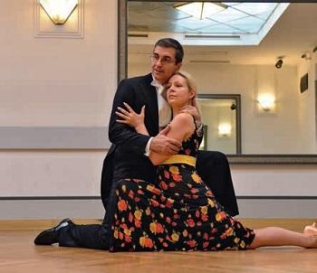 С женой Верой Плетневой в Танцевальной школе Tanzschule STANEK Вена